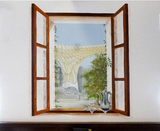 Trampantojo y decoración de interiores exclusivas, restauración y reproducción de frescos