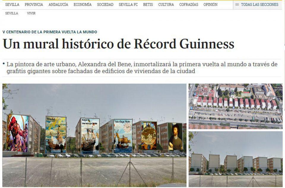 Un mural histórico de Récord Guinness